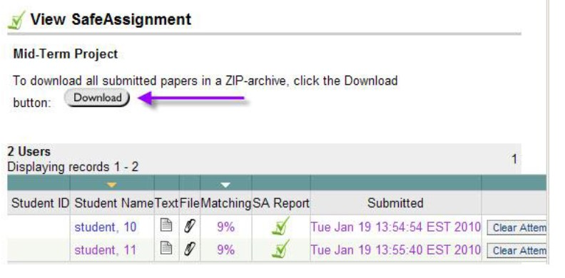 safe assignment download
